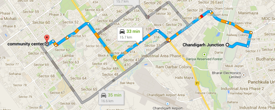Chandigarh Airport Location Map Location | MSCA
